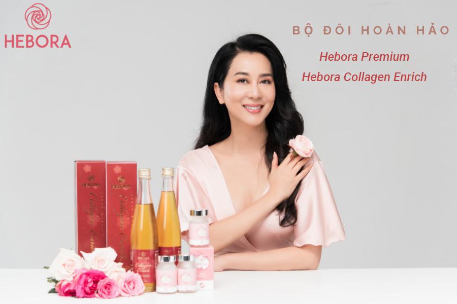 Bộ đôi hoàn hảo Hebora Premium & Hebora Collagen Enrich