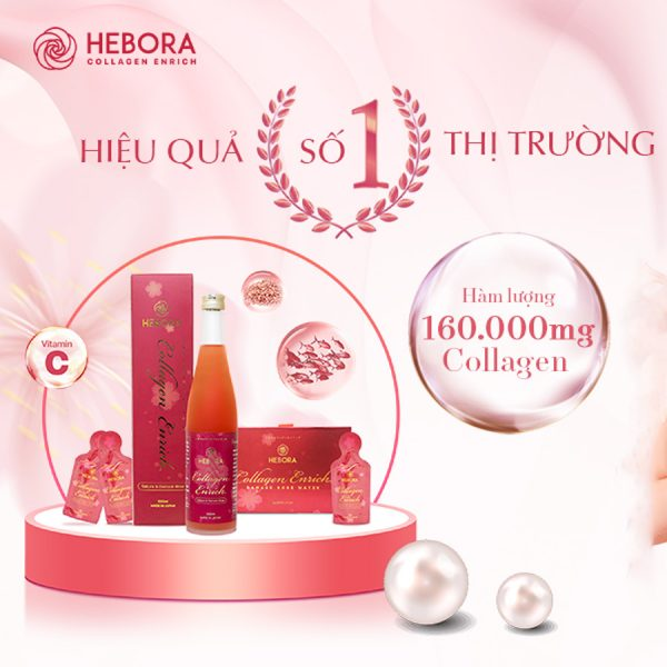 Nước uống Hebora Collagen Enrich dạng chai