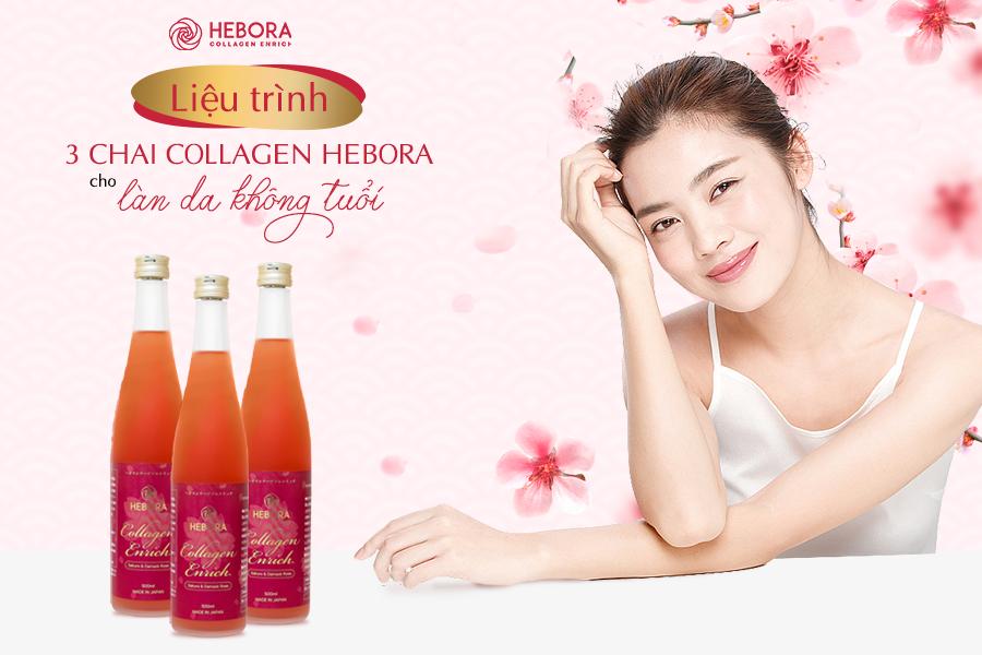 Liệu trình 3 chai Collagen cho làn da không tuổi