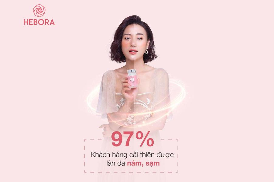 Diễn viên Phương Oanh chia sẻ tác dụng của viên uống Hebora